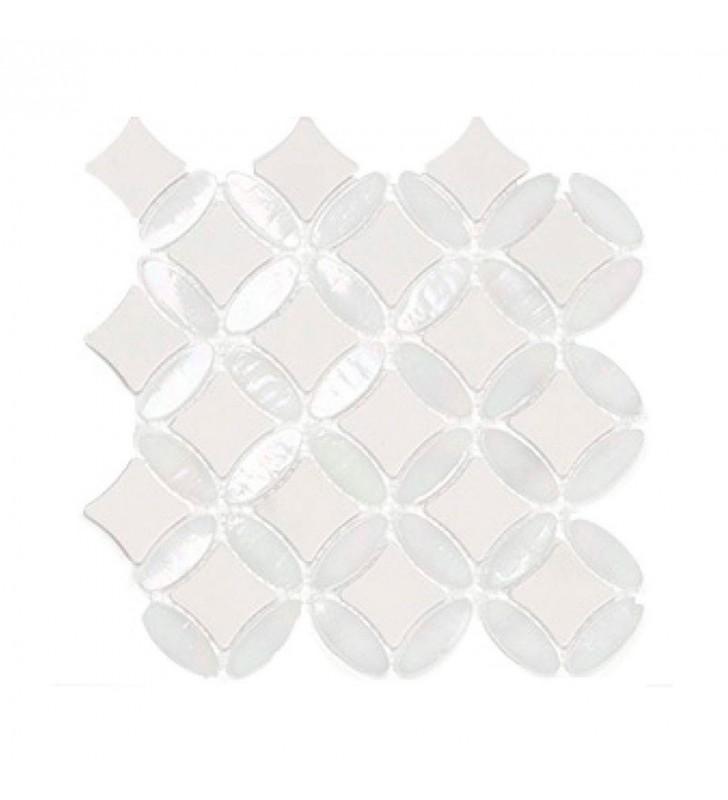 Мозаика L'antic Colonial Victorian Collection Mosaico island star white G507 24x24