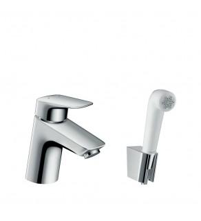 Смеситель для умывальника с гигиеническим душем Hansgrohe Logis 71290000